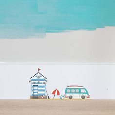 Fairy Beach Hut Wall Sticker Set by Oakdene Designs, the perfect gift for Explore more unique gifts in our curated marketplace. Childrens Wall Stickers, Vinyl Wall Stickers, Oak Furniture Land, Beach Umbrella, Beach Design, Applique Patterns, Interior And Exterior, Fairy, Prints