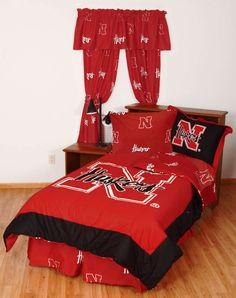 Nebraska Huskers Collegiate Full Bedding Set - NCAA Red Bed-in-Bag Full-Double Size