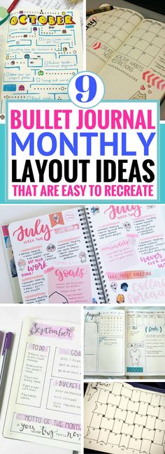 I love these bullet journal monthly layout ideas! Short, sweet and looks so unique. Definitely worth trying these bullet journal ideas. It's actually not that hard to copy and do it yourself. #bulletjournal