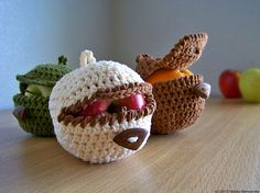 Ravelry: Crochet Ninja Apple Cozy pattern by Natalya Berezynska