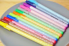 Polka-Heart Colored Gel Pen (Set of 12)