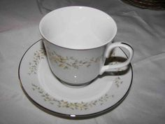 CROWN VICTORIA FINE CHINA  JAPAN CUP& SAUCER CAROLYN