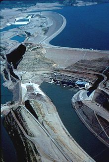 Mangla Dam -  Is located on the Jhelum River in the Mirpur District of Azad Kashmir, Pakistan. It is the sixteenth largest dam in the world.