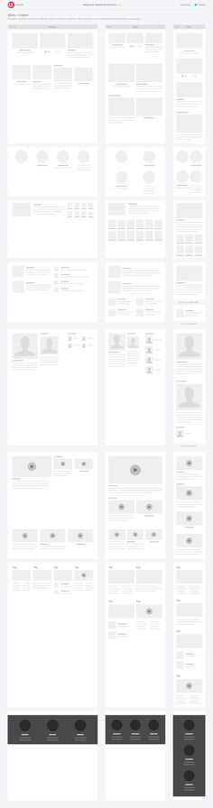 Very simple style responsive Website Wireframe Kit for Sketch, Omnigraffle, and Illustrator – UX Kits
