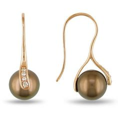10k Rose Gold Diamond and Chocolate Tahitian Cultured Pearl Charm Earrings (0.01 cttw, G-H Color, I2;I2-I3 Clarity) Amazon Curated Collection, http://www.amazon.com/dp/B0072ON9UK/ref=cm_sw_r_pi_dp_akd6qb0BVJ7SJ
