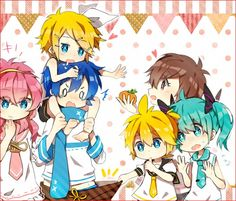 Tags: Anime, Feng Hu, Vocaloid, KAITO, Hatsune Miku, Kagamine Len, Kagamine Rin