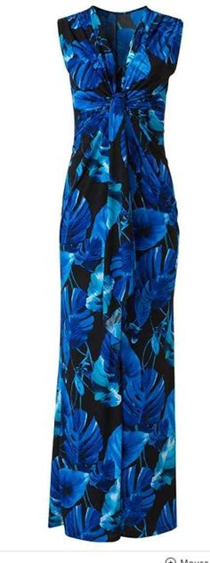 This sleeveless drape detail Deep Blue Floral Maxi Dress is a destination in itself! Also available: Plus Size Blue Floral Maxi Dress in - Cruise Dress, Cruise Outfits, Vacation Outfits, Wedding Rehearsal Dress, Blue Floral Maxi Dress, Vintage Street Fashion, Resort Dresses, Date Night Dresses, Summer Maxi