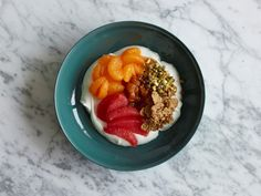 A quick (microwave-made) guava apricot compote takes the most ordinary of breakfast bowl bases -- protein-rich Greek yogurt -- to tropical, morning-making places.