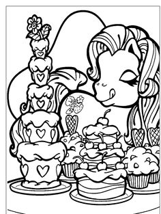 Give The Birthday Cake Coloring Page