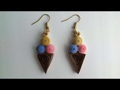 How To Make Paper Ice Cream Earrings - DIY Crafts Tutorial - Guidecentral. Guidecentral is a fun and visual way to discover DIY ideas learn new skills, meet amazing people who share your passions and even upload your own DIY guides. Cream Earrings, Diy Earrings, Paper Craft Supplies, Paper Crafts, Diy Crafts, Ice Cream Crafts, How To Make Paper, Diamond Studs, Origami