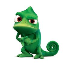 Pascal from Tangled....go ahead, just call him a frog....this little green chameleon will set you straight! :-)
