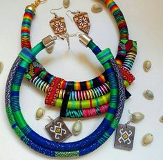 Jess Rope statement necklace OOAK Ethnic necklace Tribal