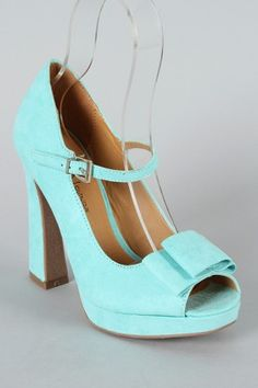light blue peep toe mary jane with bow... under $26.. awesome