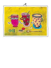 3 cups Mixed Media, Lunch Box, Cups, Illustration, Painting, Painting Art, Mugs, Illustrations, Mixed Media Art