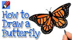 draw drawing butterfly monarch easy drawings realistic step butterflies learn painting flying sketch pencil rayner shoo side kidlit tv getdrawings