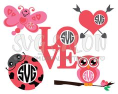 Valentines Day SVG Cut Files in SVG, EPS, DXF, JPEG, and PNG Format for Cricut Explore, Silhouette Cameo, and Brother ScanNCut Cutting Machines.