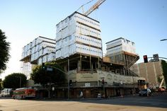 The Star Apartments on Los Angeles' Skid Row, seen here during construction in 2013, will provide permanent housing to 102 homeless people and the county agency that works to end homelessness