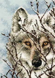 Wolf Cross Stitch Kit from Dimensions from £13.25