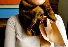 DIY Faux Fur and Satin Neckwarmer Part 2