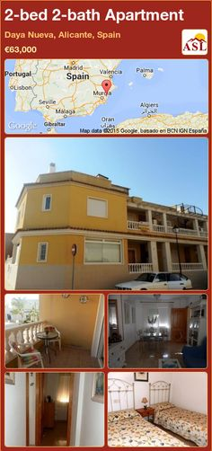 Apartment for Sale in Daya Nueva, Alicante, Spain with 2 bedrooms, 2 bathrooms - A Spanish Life Apartments For Sale, Valencia, Independent Kitchen, Alicante Spain, Family Bathroom, Double Bedroom, Sitting Area, Swimming Pools