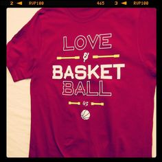 Love and Basketball - get it here http://ift.tt/2lxMweS #forthree #43basketball #basketball #bballgear #lookgoodplaysmart #BSKTBLL #allidoisball