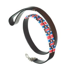 Pampeano Leather Dog Lead - Great British Flag This patriotic leather and stitched dog lead measures 115cm long…