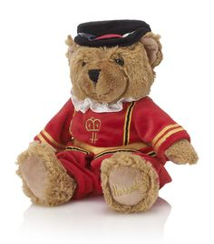 """HARRODS  Beefeater Bear..I brought one of these cuties home to Arizona. he's sitting in my """"British library"""" in the middle of the red rocks of Sedona. no one expects my interiors when they walk in!"""