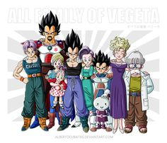 All family of Vegeta by albertocubatas on DeviantArt