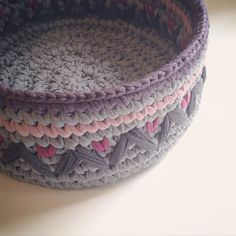 Beautiful! Crochet basket :)