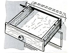"""""""No doubt you have pulled a drawer all the way out and—c-r-r-a-a-s-h!"""" Our December 1961 issue had a solution for drawers prone to pulling free of dressers: Pull the drawer out as far as safely possible and paint a red stripe on each rail next to the cabinet face. Paint a black stripe 2 inches closer to the front of the drawer. Pull the drawer out no farther than the black mark and you'll avoid spilling its load.   - PopularMechanics.com"""
