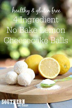 Recipe: 4 Ingredient No Bake Lemon Cheesecake Bites - Sweet Food Cheesecake Balls Recipe, Dairy Free Cheesecake, No Bake Lemon Cheesecake, Healthy Cheesecake, Cheesecake Bites, Cheesecake Recipes, Lemon Desserts, Dessert Recipes, Raw Recipes