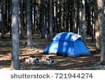 Blue tent in the forest  adventure, autumn, background, beautiful, beauty, blue, blue tent, camp, campsite, equipment, extreme, field, forest, grass, grove, hike, hiking, journey, landscape, leisure, mountain, nature, outdoor, panoramic, park, people, pine trees, relaxation, rest, rural, scene, shadows, shelter, sport, stand, summer, tent, tourism, tourist, travel, tree, trip, vacation, wood, woodland