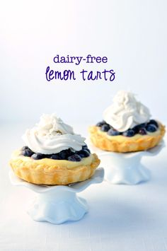 Dairy-Free Lemon Tarts made with Paleo Lemon Curd and Whipped Coconut Milk |www.flavourandsavour.com