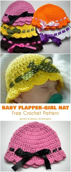 Baby Flapper Girl Hat Free Crochet Pattern Baby Flapper Girl Hat Free Crochet Pattern,Häkeln Baby Flapper Girl Hat Free Crochet Pattern Related posts:Nähen - Baby girl Third Trimester Exercises You Can. Crochet Baby Hat Patterns, Baby Clothes Patterns, Baby Girl Crochet, Crochet Baby Clothes, Crochet For Kids, Free Crochet, Bonnet Crochet, Crochet Beanie, Crochet Hats