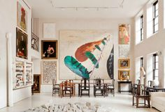 Art collector's loft in the West Village, NYC.