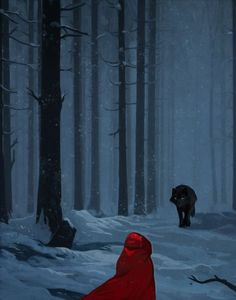 Explore the red hood collection - the favourite images chosen by ne-g on DeviantArt. Red Hood, Red Riding Hood Wolf, Little Red Ridding Hood, Dark Fantasy, Fantasy Art, Big Bad Wolf, Wolf Howling, Artwork, Fairy Tales