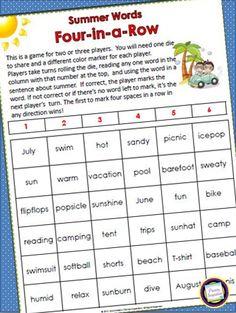 http://primaryinspiration.blogspot.com/2012/05/summer-vocabulary-game-freebie.html