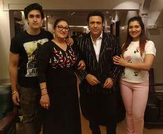 #PicOfTheDay - Govind with his wife Sunita and kids Tina Ahuja and Yashvardhan Ahuja   #govinda #tinaahuja #sunitaahuja #yashvardhanahuja #celebrity #bollywood #bollywoodactress #bollywoodactor #actor #actress #filmywave