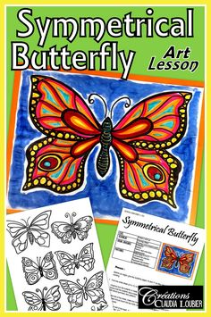 Browse over 320 educational resources created by Art with Creations Claudia Loubier in the official Teachers Pay Teachers store. Spring Art Projects, Toddler Art Projects, Art Projects For Teens, Art Lessons For Kids, Cool Art Projects, Art For Kids, Middle School Crafts, Art School, Butterfly Painting