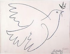 Picasso's line drawings of peace doves. What I would get as a tattoo (if I ever get one).
