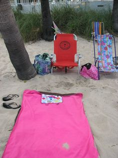 The About Town Blanket isn't just for parades, ball games or to keep warm...it's perfect to use as a beach blanket too! Www.mythirtyone.com/monicameans