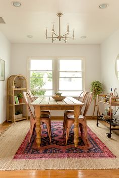beautiful dining room A Globally Inspired Spanish Colonial California Bungalow