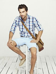 Men's Style: Powder blue for summer. #Summer #Style