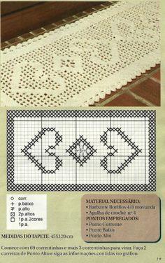Tapete de Crochê Romântico - Gráfico, Fotos e Informações - Not1