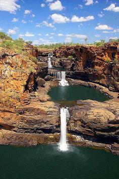 Waterfalls in Mitchell River National Park, Kimberley, Australia