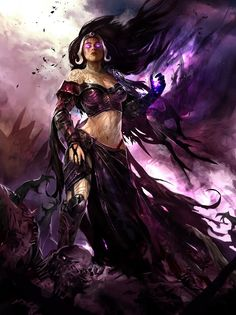 Liliana, from the Magic: The Gathering collectible card game.