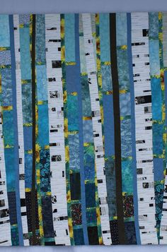 I just can& seem to get enough of these birch tree quilts! I have had a few people ask me to write a pattern and give a class for my birch tree quilts, Tree Patterns, Fabric Patterns, Quilting Projects, Quilting Designs, Quilting Ideas, Sewing Projects, Scandinavian Quilts, Tree Quilt Pattern, Birch Tree Art