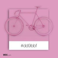 Color Palette Inspiration | Pink Bike | #dd9bbf