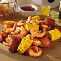 Frogmore Stew - One of my favorite things to cook up for guests, especially at the beach. Serve with warm French bread and cold beer, preferably on butcher paper.