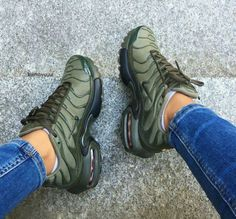 Image of NIKE AIRMAX  TUNED TN PLUS OLIVE GREEN ||CLICK TO ORDER